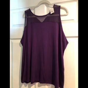 Lane Bryant women's crop purple blouse 18/20